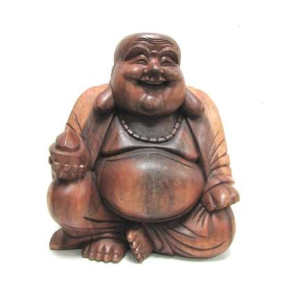 Буда  щастлив от дърво седнал