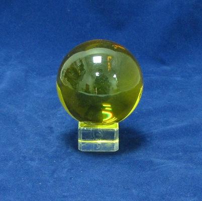 Кристална сфера цветна  на поставка