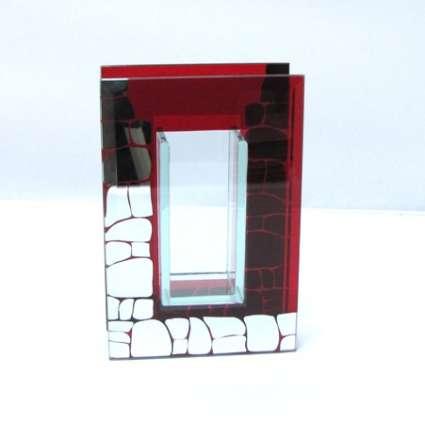 ваза от стъкло и огледало