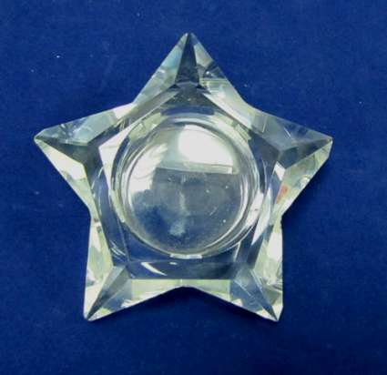 стъклен свещник звезда
