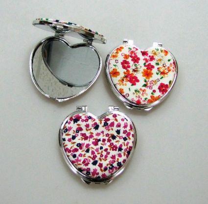 Огледало метал+плат сърце