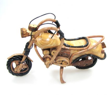 Motorcycle of wood