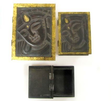 Кутии от дърво с Буда 3бр.к-т