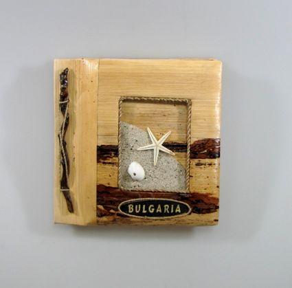 Албум за снимки-10 листа-еко материали с надпис -BULGARIA-от пясък