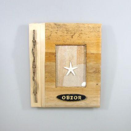Албум за снимки-10 листа-еко материали с надпис-OBZOR- от пясък
