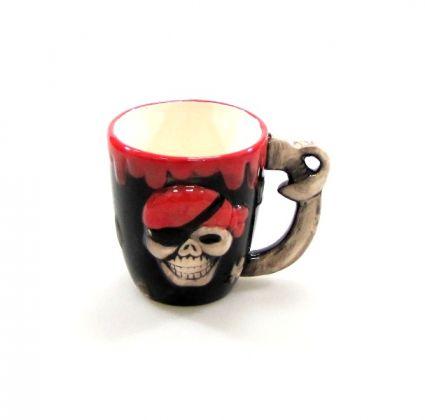 Чаша керамична с пирати