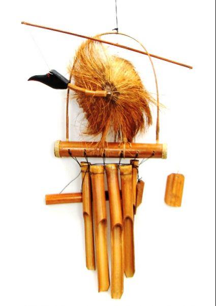 Вятърен звънец  от бамбук  и кокос- птица