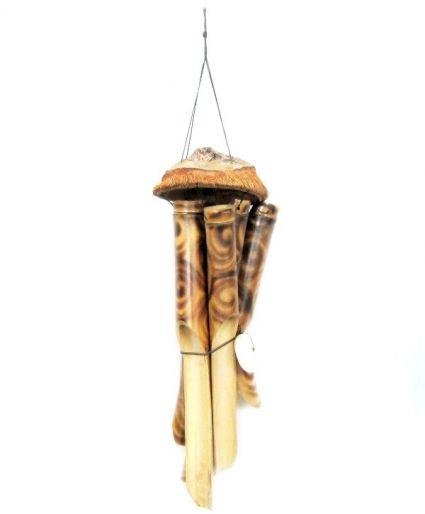 Вятърен звънец от бамбук и кокос