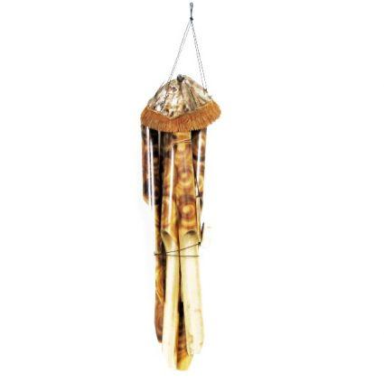 Вятърен звънец от бамбук и кокос декориран