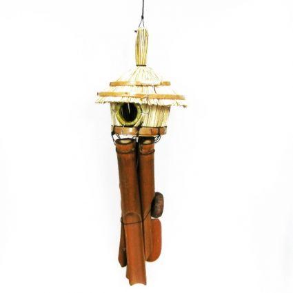 Вятърен звънец от бамбук и  декориран