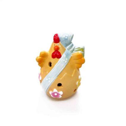 Великденска декорация - пиле от керамика светилник+лампички