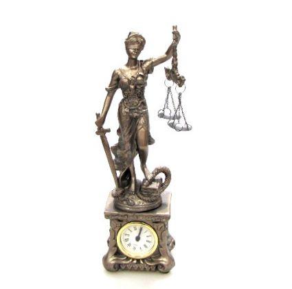 фигура Темида в/у  часовник