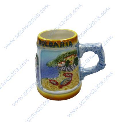 Чаша керамична с релефни изгледи и надпис България