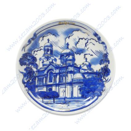 Wall plates with views of Varna of porcelain