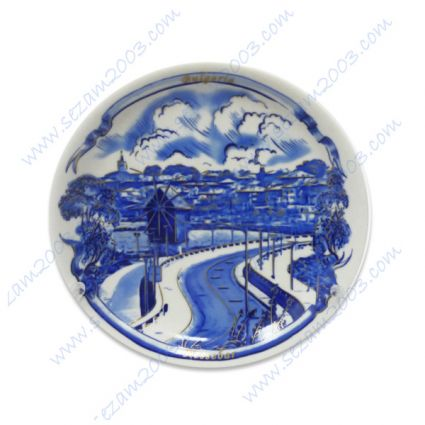 Wall Plate with a view to Nessebar of porcelain