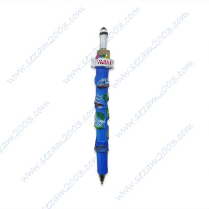 Resin pen with relief views of North Black sea, Varna