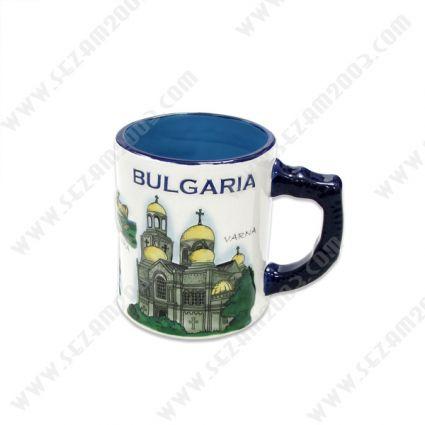 Чаша сувенирна от керамика с релефни рисунки и надписи от Сев.Черноморие.