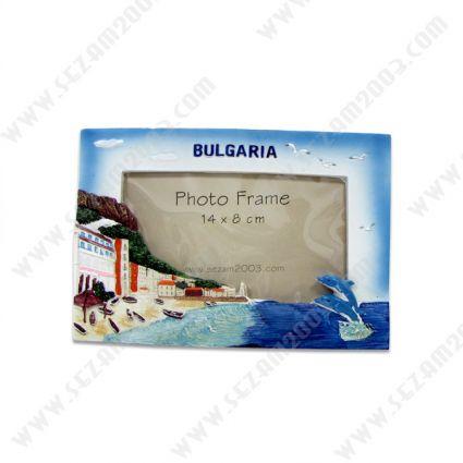 Рамка за снимки  от полирезин с релефни изгледи от България