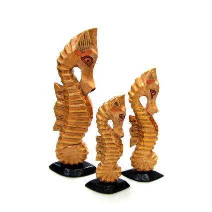 фигура морско конче от дърво 3 бр.к-кт