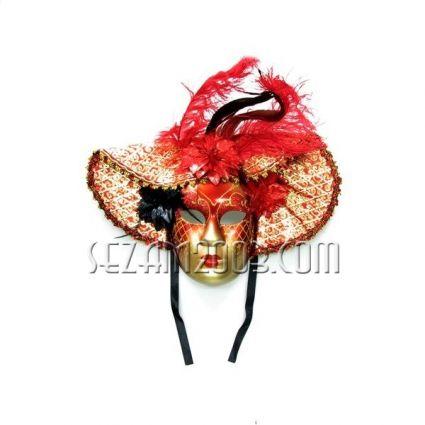 """Маска карнавална """"Венеция"""" от пластмаса и плат"""