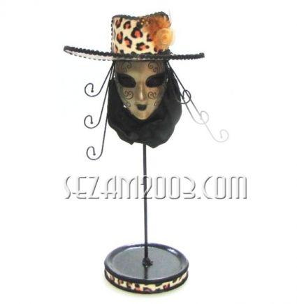 Поставка за бижута резин +тел+плат-маска Венецианска
