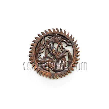 пано  дърворезба стенно с дракон  ръчна изработка