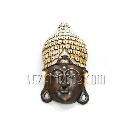 Маска стенна от дърво Буда декорирана