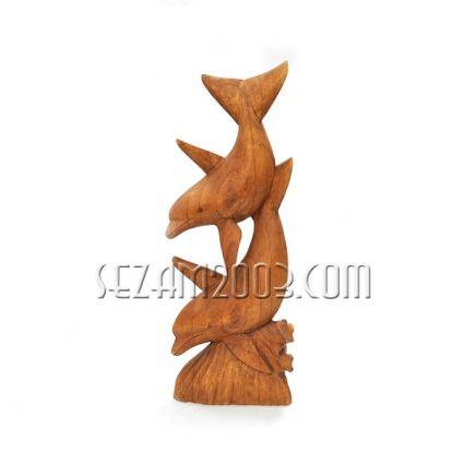 Делфини дърворезба настолни  ръчна изработка