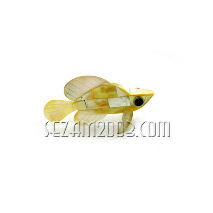 фигурка на риба от натурален седеф