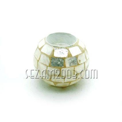 свещник топка  от натурален седеф
