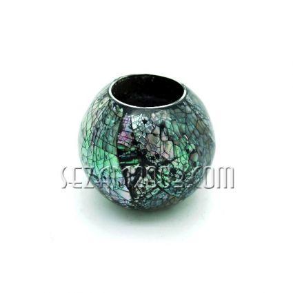 свещник топка  от натурален океански седеф