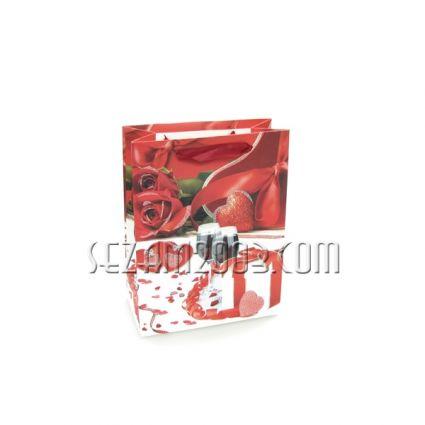 Подаръчна торбичка от хартия и брокат