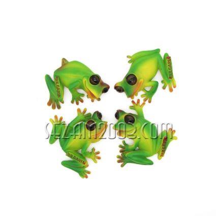 Магнит за хладилник жабка от резин - 4 мод.