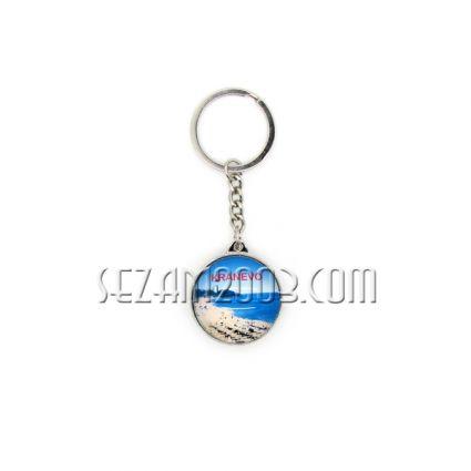 Ключодържател от стъкло и метал с две лица - Кранево