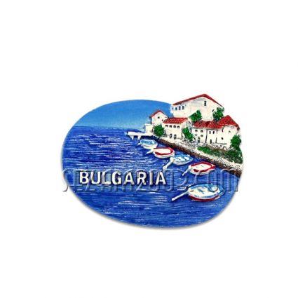 Магнит за хладилник от полирезин с релефна картинка и надпис от България.