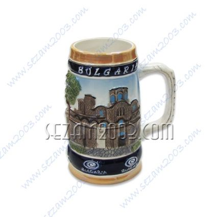 Ceramic mug with relief inscription and views    Bulgaria