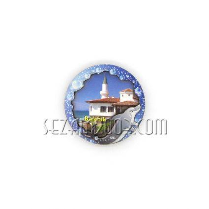 магнит за хладилник с  3Д  изглед от български морски курорт - мдф и хартия515