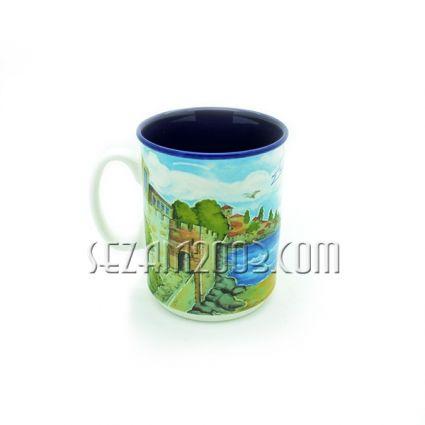 Чаша от порцелан БГ пейзаж с надпис BULGARIA и индивидуална опаковка
