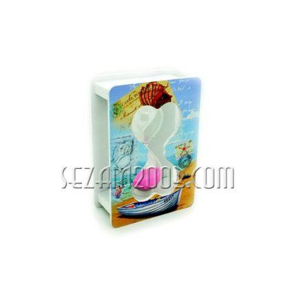 пясъчен часовник мдф и стъкло-РЕТРО декор