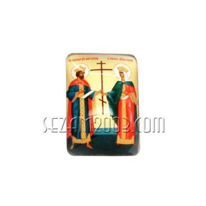 св.Константин и Елена - магнит от масивно стъкло