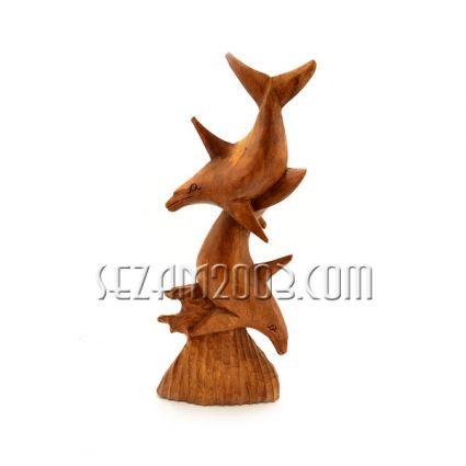 фигура от дърво - ДЕЛФИНИ  ръчна изработка