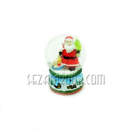 Преспапие Коледно от стъкло и полирезин с лампички 2цвята