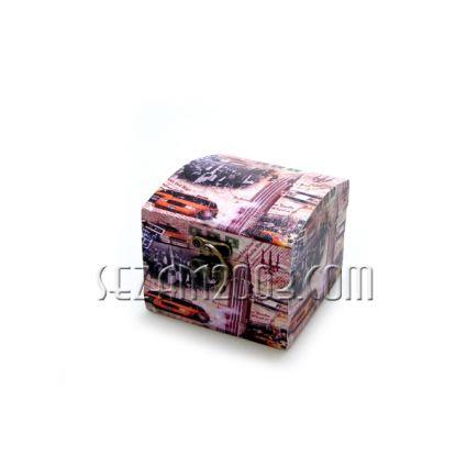 Кутия за бижута от мдф и изк.кожа - винтидж декор