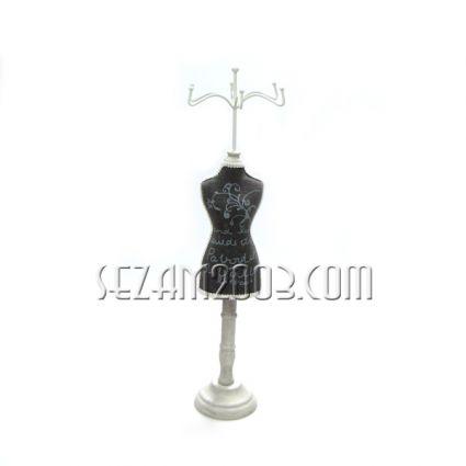 Манекен - поставка за бижута от   плат и метал