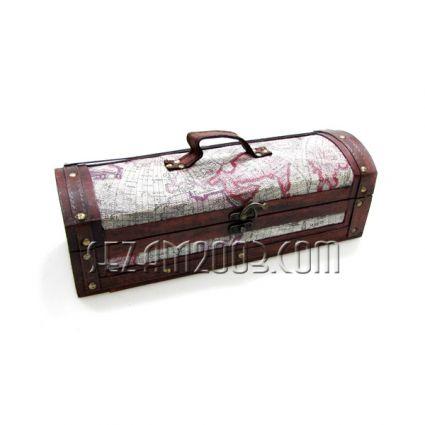 Кутия за бутилка вино от мдф и плат  -  декор