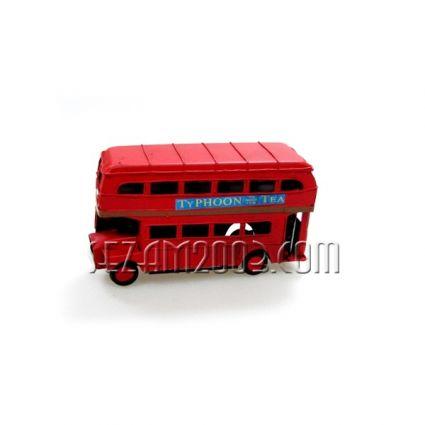 Макет на Лондонски автобус - РЕТРО от метал