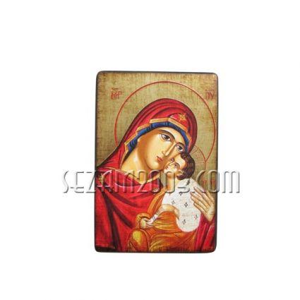 Икона от български автор репродукция върху дърво