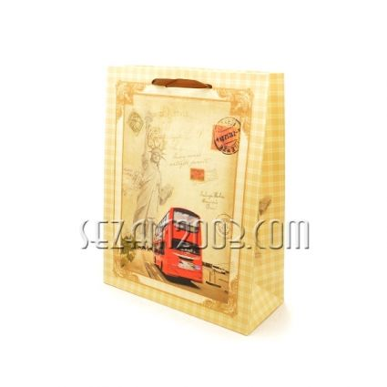 Подаръчна торбичка от хартия - РЕТРО