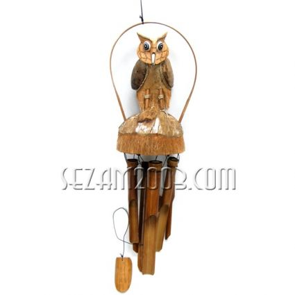 БУХАЛ - вятърен звънец от кокос и бамбук