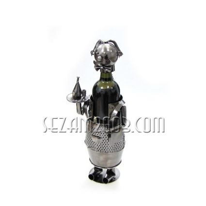 Waiter - wine bottle holder from metal